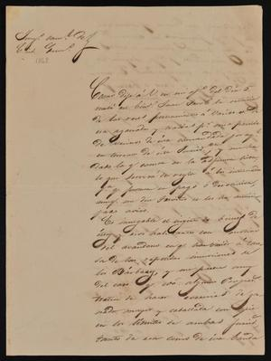 Primary view of [Letter from Mariano Arispe to the Laredo Alcalde, July 12, 1842]