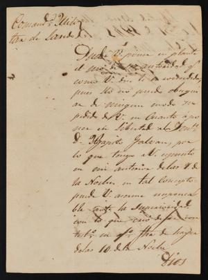 Primary view of object titled '[Letter from José María González to the Laredo Justice of the Peace, March 31, 1841]'.