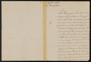 Primary view of [Letter from Jesus Cárdenas the Laredo Alcalde, February 10, 1842]