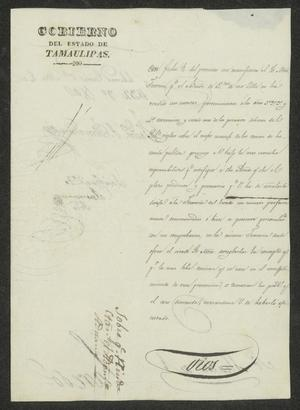 Primary view of [Letter from the Governor to the Laredo, March 8, 1832]