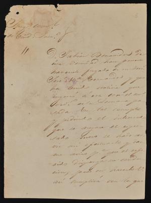 Primary view of [Letter from Felipe Peña to the Laredo Alcalde, June 16, 1844]