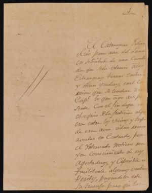 Letter from José Salines to the Laredo Alcalde, November 8, 1827