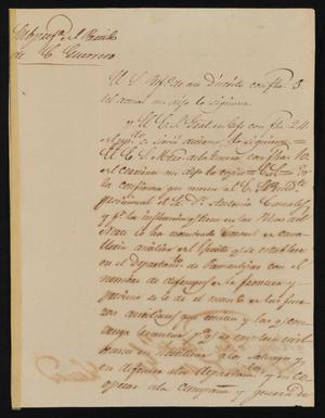 Primary view of [Letter from Policarzo Martinez to the Laredo Ayuntamiento, February 11, 1842]