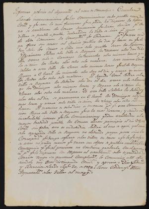 Primary view of [Letter from Jesús Cárdenas to the Laredo Ayuntamiento, September 20, 1839]