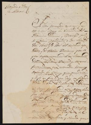 Primary view of object titled '[Letter from Mariano de Iglesias to the Laredo Justice of the Peace, August 10, 1840]'.