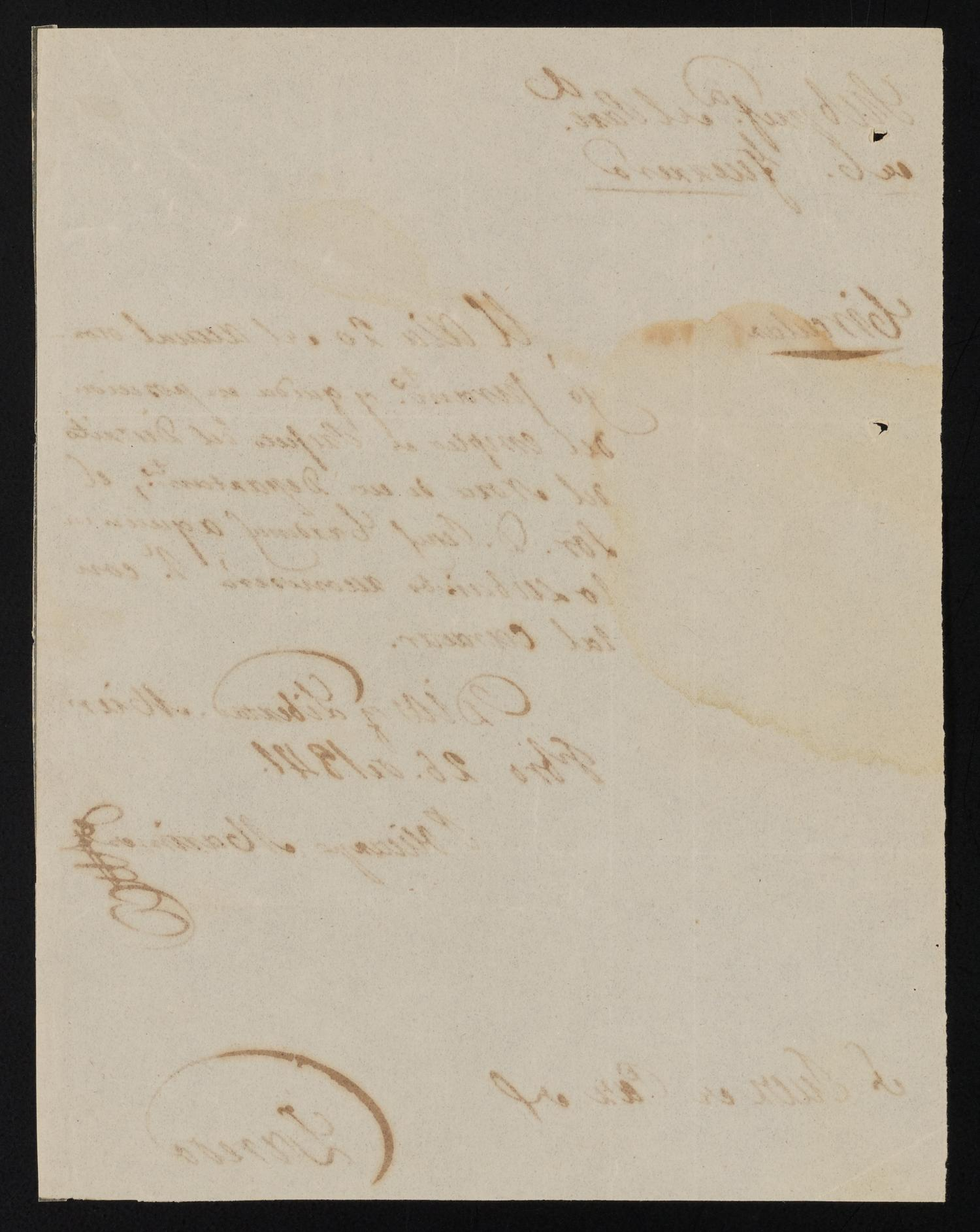 [Circular from Policarzo Martinez to the Laredo Justice of the Peace, February 26, 1841]                                                                                                      [Sequence #]: 2 of 2