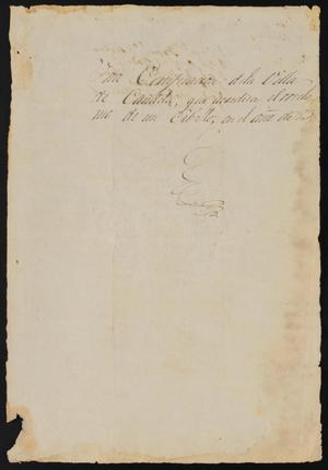 Primary view of object titled '[Certification for the Reclamation of a Horse]'.