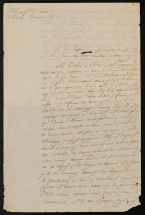 Primary view of object titled '[Letter from Policarzo Martinez to the Laredo Justice of the Peace, March 29, 1841]'.