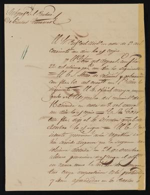 Primary view of object titled '[Letter from Policarzo Martinez to Justice of the Peace Ramón, December 7, 1841]'.