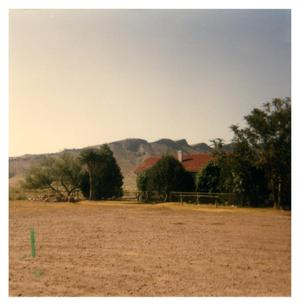 Primary view of object titled 'Brite Ranch House and Capote Mountain'.