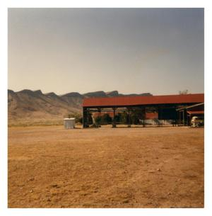 Primary view of object titled '[Shed at the Brite Ranch]'.