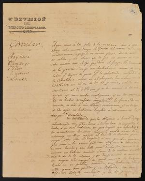 Primary view of object titled '[Handwritten Circular from Eleusterio Méndez]'.