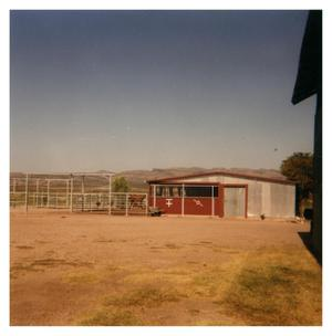 Primary view of object titled 'Barn and Corrals at the Brite Ranch'.