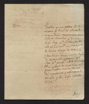 Primary view of [Letter from José Antonio Leal to the Laredo Alcalde, August 19, 1829]