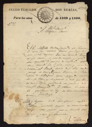 Primary view of object titled '[Correspondence between Salbador Cuellar and Ildefonso Ramón]'.