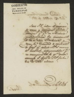 Primary view of [Letter from Francisco Vital Fernandez to the Laredo Alcalde, January 13, 1833]