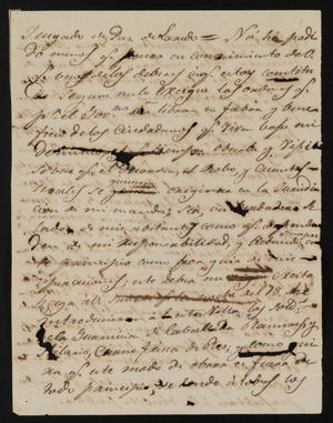 Primary view of object titled '[Letter from the Laredo Justice of the Peace to Policarzo Martinez, March 26, 1841]'.