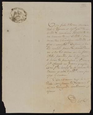 Primary view of [Letter from Andrés de Saldaña to the Tax Collector, November 2, 1835]