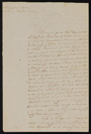 Primary view of object titled '[Letter from Policarzo Martinez to the Laredo Justice of the Peace, March 26, 1841]'.