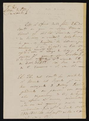Primary view of object titled '[Three Notes from José María Ramón to Jesús Cárdenas, October 28, 1841]'.