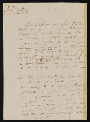 Primary view of [Three Notes from José María Ramón to Jesús Cárdenas, October 28, 1841]