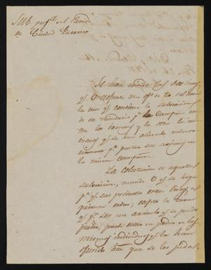 Primary view of [Letter from Policarzo Martinez to the Justice of the Peace in Laredo, February 26, 1841]