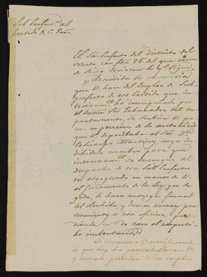 Primary view of object titled '[Letter from Ignacio García to the Laredo Justice of the Peace, January 30, 1841]'.