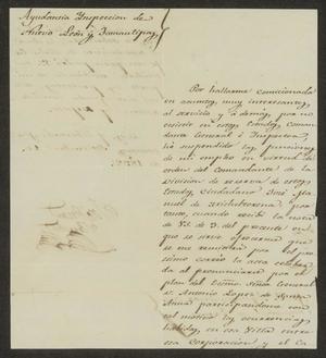 Letter from José Juan Sanchez to the Laredo Alcalde, September 10, 1832