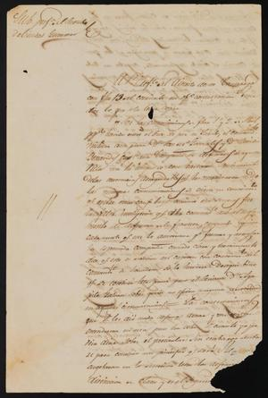 Primary view of object titled '[Statement from the Prefect of the Northern Department]'.