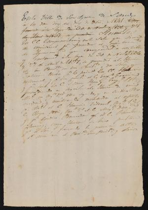 Primary view of object titled '[Minutes from the Meeting of the Electors]'.
