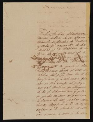 Primary view of object titled '[Letter from José María González to the Laredo Justice of the Peace, January 22, 1842]'.
