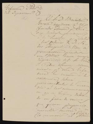 Primary view of object titled '[Letter from Jesús Cárdenas to the Laredo Alcalde, May 7, 1837]'.
