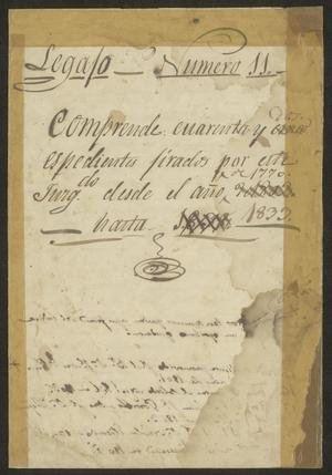 Primary view of [List of Documents from 1770 to 1833]
