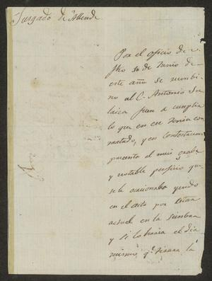 Primary view of [Letter from Jesús Herrera to the Laredo Alcalde, July 22, 1832]