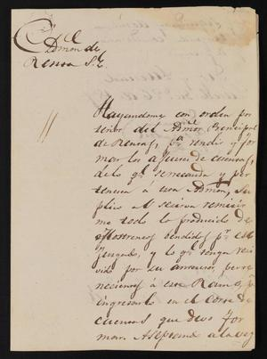 Primary view of object titled '[Correspondence between Danacio Gonzalez and the Laredo Justice of the Peace, December 26, 1837]'.