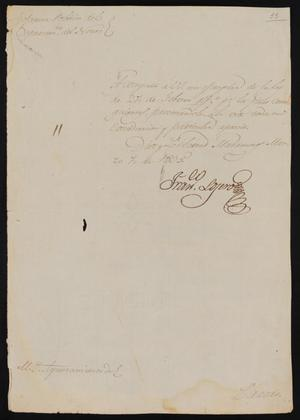 Primary view of object titled '[Letter from Francisco Lojero to the Laredo Ayuntamiento, March 7, 1835]'.