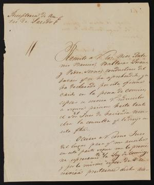 Primary view of object titled '[Letter from Agustin Soto to the Justice of the Peace García, August 28, 1841]'.