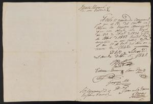 Primary view of object titled '[Letters from Justice of the Peace Ramón to 11 Electors, December 5, 1841]'.