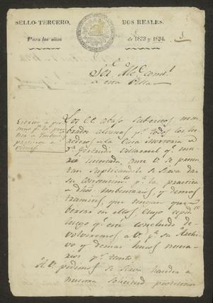 Primary view of [Inventory of the Possessions of Gertrudis Villarreal]