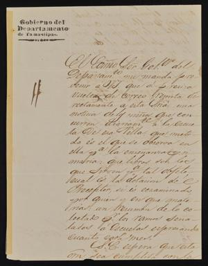 Primary view of [Letter from José Antonio Fernández to the Laredo Ayuntamiento, February 16, 1843]