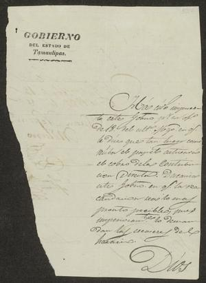 Primary view of [Letter from Juan Molano to the Laredo Alcalde, April 12, 1832]