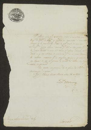 Primary view of [Letter from Lorenzo Cortenas to the Laredo Ayuntamiento, March 28, 1833]