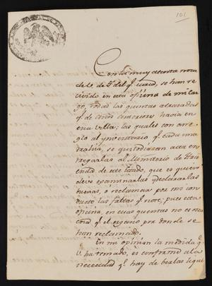 Primary view of [Letter from Francisco Longoria to the Laredo Alcalde, August 21, 1835]