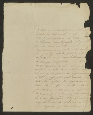 Primary view of [Letter from José Guadalupe de Samano to the Laredo Ayuntamiento, October 27, 1833]