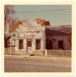 Primary view of object titled 'The Old Borunda Cafe on Hwy 90 in Marfa'.