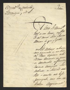 Primary view of [Letter from Antonio Elosua to the Laredo Alcalde, October 9, 1827]