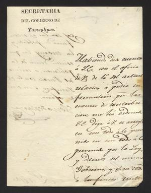 Primary view of [Letter from Eleno de Vargas to the Laredo Alcalde]