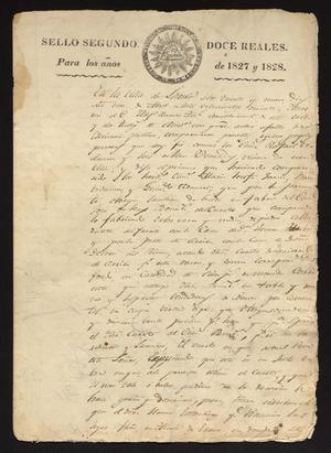 Primary view of object titled '[Official Document from the Laredo Alcalde]'.