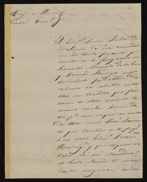 Primary view of object titled '[Letter from Trinidad Vela to the Laredo Justice of the Peace, February 16, 1841]'.