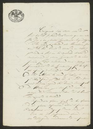 Primary view of [Letter from José Antonio Ximenes to the Laredo Tax Collector, May 2, 1834]